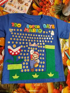 100 Days Of School Project Kindergartens, 100 Day Of School Project, School Projects, Projects To Try, School Dresses, School Shirts, 100th Day, Cute Shirts, The 100