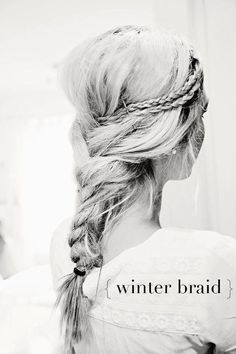 Fun & Trendy Winter Braid #FringeSalon #Winter #Fashion http://fringesalonandboutique.com/ https://www.facebook.com/FringeSalonSpokane