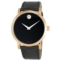 Movado Red Label 18k Rose Gold Automatic Museum Mens Watch 0606134