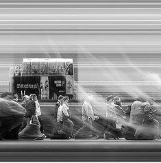 "Adam Magyar, ""Urban Flow (detail)"", scanner-time-lapsed photography, 2009"