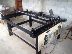 Click to close image, click and drag to move. Use arrow keys for next and previous. Cnc Table, Cnc Machine Tools, Cutter Machine, Diy Cnc, Laser Cutting Machine, Shop Plans, Cnc Router, Arrow Keys, Close Image