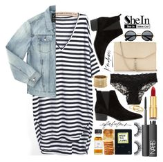 No rush, I'll wait for the right moment to make my move... by eclectic-chic on Polyvore featuring polyvore fashion style Marc Jacobs H&M MANGO Express Sole Society Gorjana NARS Cosmetics Isaac Mizrahi stripeddress DenimStyle
