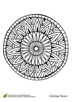 Dibujo de mandala con rayos de sol para colorear dibujos de mandalas para colorear pinterest - Coloriage de rosace ...
