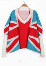 suéter Union Jack Pattern-azul $36