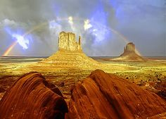 Monument valley rainbow Photo by Sabry Mason -- National Geographic Your Shot