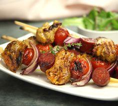 Brochettes de filet mignon de porc à l'Espagnole | Envie de bien manger http://www.enviedebienmanger.fr/recettes