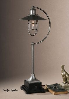 A Masculine and Forceful Sensation with Industrial Lamps : Charming Industrial Lamp And Vintage Style For Amazing Table Lamp Design With Nice Design