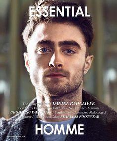 Daniel Radcliffe na capa da Essential Homme Agosto-Setembro 2014 http://www.essentialhommemag.com/