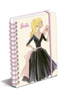 NEW Midnight Mischief Barbie Spiral Journal www.TheConsignmentBag.com We ship Worldwide and New Items arrive daily! Follow us and have items delivered straight to your front door!   #barbie #stationary #journal #littleblackdress