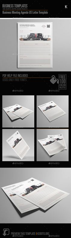 Business Meeting Agenda A By Keboto On Creativemarket