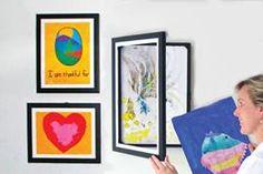- Lil Davinci® Art Gallery 3 PC Set #PKG - LDAG3 - set of 3 different size frames, 1 for each child's artwork to decorate basement playroom