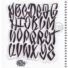 norm will rise lettering Graffiti Alphabet Fonts, Tag Alphabet, Graffiti Font, Street Art Graffiti, Types Of Lettering, Lettering Styles, Hand Lettering, Tattoo Word Fonts, Word Tattoos