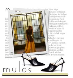 """""""Mules"""" by patricia-dimmick ❤ liked on Polyvore featuring Balmain, Alexander White, mules and maggiemaetaylor"""