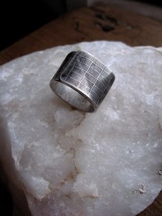 Items similar to Mens wide Modern Bold design silver men's ring - Unpreppy Plaid on Etsy Unique Mens Rings, Mens Silver Rings, Silver Man, Rings For Men, Black Silver, Key Jewelry, Jewelery, Fine Jewelry, Engagement Wedding Ring Sets