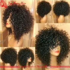 Indian Remy Curly Full Lace Wigs Glueless Afro Kinky Curly Human Hair Wig Virgin Kinky Afro Lace Front Wigs For Black Women