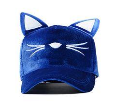 74d461ce07b GAMT Womens Lovely Adjustable Strap Cat Ears Cap Baseball Cap Sun Shading Hat  Summer Sun Hat