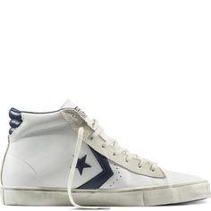 CONS Pro Leather Distressed Blanc/Noir/Tourterelle white/black/turtledove