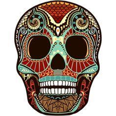 Great design! #mexican #skull #dayofthedead #tattoo #crane #mexicain #tetedemort #mexikanisch #schädel #schedel