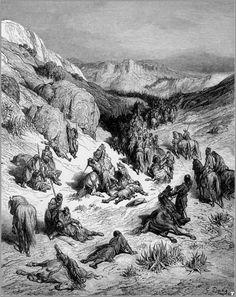 Песчаная буря во время сражения крестоносцев с сирийским войском. Гюстав Доре
