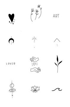 Tiny Tattoos For Girls, Cute Tiny Tattoos, Dainty Tattoos, Little Tattoos, Pretty Tattoos, Easy Small Tattoos, Small Tattoos For Women, Small Henna Tattoos, Small Finger Tattoos