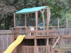 tree house - play fort - play house with sandbox underneath made for my grandkids.