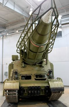 One of the artifacts the FHC recently obtained is a Scud ballistic missile carrier called a TEL. About 100 TELs (Tractor, Erector and Launcher) were built from a self-propelled gun design that dates back to World War II. Designated the ISU-152, the machine carried a 152.4 mm howitzer, used to fight tanks or support infantry. TEL versions of the vehicle had the same running gear but omitted the heavy gun to carry a single 9,700-pound R-11 ballistic Scud, its launch tower, and missile support…