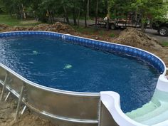 Semi-In Ground Pools, Partial In Ground, Hybrid Pool Nashville, Clarksville Above Ground Pool Landscaping, Backyard Pool Landscaping, Backyard Pool Designs, Small Backyard Pools, Small Pools, Above Ground Swimming Pools, Swimming Pools Backyard, In Ground Pools, Indoor Pools