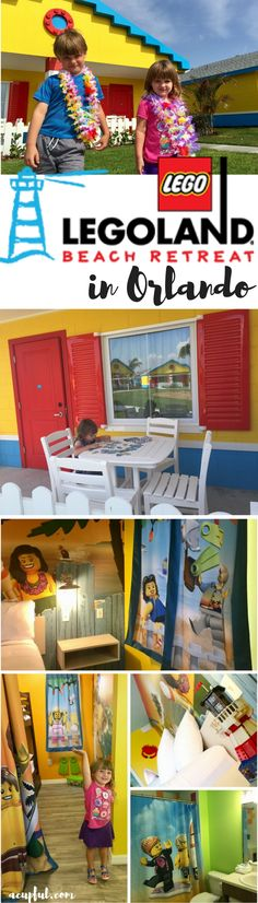 The NEW LEGOLAND Beach Retreat hotel near Orlando Florida | a full hotel review of Legoland Florida's new onsite hotel #familytravel #brickbeach