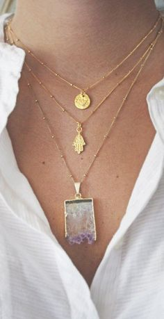 Hamsa Necklace. Want!