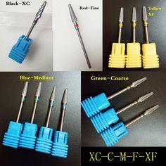 In stock!2016 New design carbide nail drill bit electric nail file drill bit coarse carbide drill 3/32'' 602801 high quality  Price: 2.85 USD