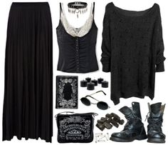 shadyoaks: polyvore-gore: The Craft Inspired oh THAT'S where I get my gothy aesthetic, fuck