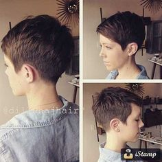Cute super short pixie
