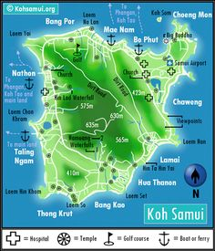 Maps of Ko Samui, Koh Pha Ngan and Koh Tao. Overview maps including beaches, towns and villages, roads and ferry piers Koh Samui Thailand, Ko Samui, Koh Phangan, Thailand Honeymoon, Thailand Travel, Asia Travel, Thailand In March, Koh Tao, Beautiful Beaches
