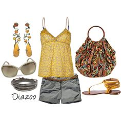 Mustard with a Twist, created by diazoo on Polyvore