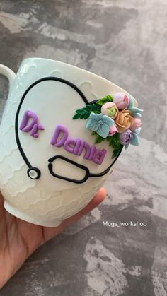 Clay Jar, Clay Mugs, Ceramic Clay, Polymer Clay Crafts, Diy Clay, Handmade Polymer Clay, Mug Crafts, Diy Gifts For Girlfriend, Personalized Candles
