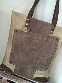 canvas tas met voorvak diga colmore