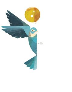 Nice bird illustration by Andrew Lyons