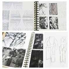 Work by  Vivien Adrian @vivienadrian, B.A. Student 2nd Year, work in progress #workingout #dunkel #black #pattern #test #template #fashiondesign #drawing #berlin  #esmodberlin #geometric #drawing #design #fashiondesign #trends #berlin #Bachelor #process #esmod #school #kunst