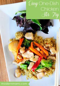 Easy One Dish Chicken Stir Fry Recipe
