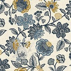 Makower MIX Floral Curtains, Drawings, Floral, Prints, Patterns, Block Prints, Blinds, Flowers, Sketches
