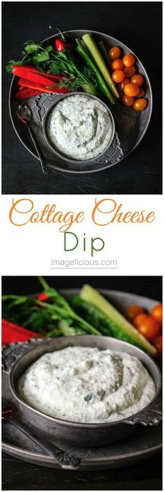 Cottage Cheese Dip - delicious, healthy, flavourful dip. Only takes a few minutes to make and is perfect for entertaining