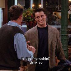 """19 Times Joey Was the Best Friend on """"Friends"""" Joey Friends, Friends Moments, I Love My Friends, Friends Tv Show, Friends Forever, Best Friends, Chandler Quotes, Watch Greys Anatomy, Friend Jokes"""