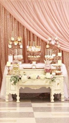 Exceptionnel Royal Pink And Rose Gold Baby Shower Dessert Table By Sylviau0027s Heavenly