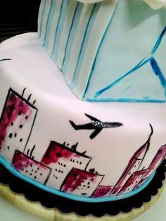 #città #torta della pasticceria La Mimosa di http://www.simocakedesigner.it