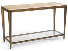 Flexsteel Seville 6629-04 Metal Sofa Table with Marble Top | Furniture and ApplianceMart | Sofa Table
