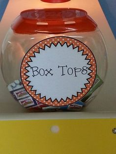 Reused Tide Pods container for Box Tops
