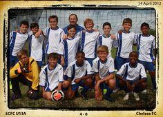 SCFC U13A vs Chelsea FC 14 April 2012.  Win 4-0.