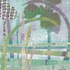 Carol Nunan - A Printmaker: More floral monotypes - irises this time