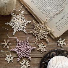 Ravelry: Frostvale Snowflake pattern by Julia Hart Crochet Snowflake Pattern, Christmas Crochet Patterns, Crochet Christmas Ornaments, Holiday Crochet, Crochet Snowflakes, Crochet Motif, Crochet Doilies, Free Crochet, Christmas Crafts
