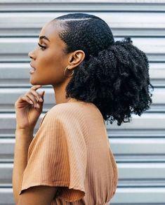 Natural Hair Ponytail, Curly Ponytail, Sleek Ponytail, Natural Hair Care, Ponytail Hairstyles, Natural Hair Styles, 4b Natural Hairstyles, Natural Hair Puff, 1940s Hairstyles